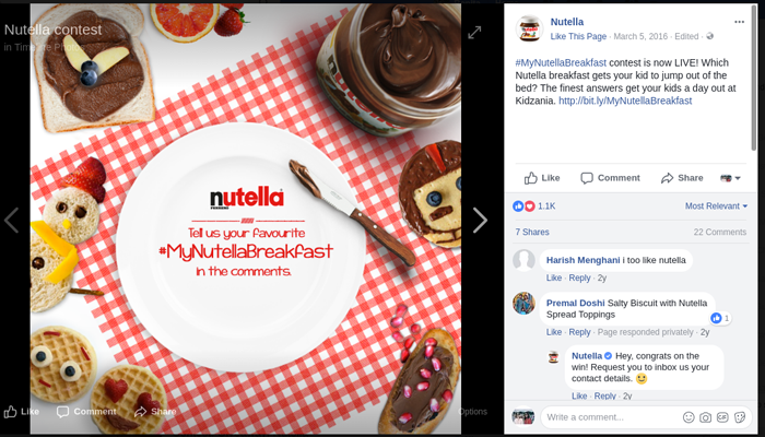 Nutella-Ask a question