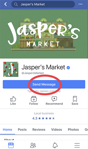 Facebook Message (Mobile View)