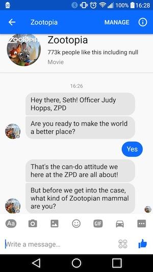 Zootopia Chatbot
