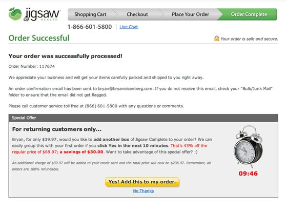 Cross-selling in Transactional Emails