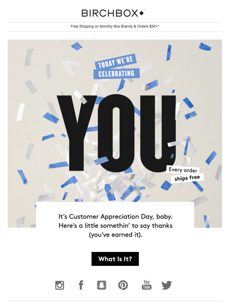 Customer appreciation Email
