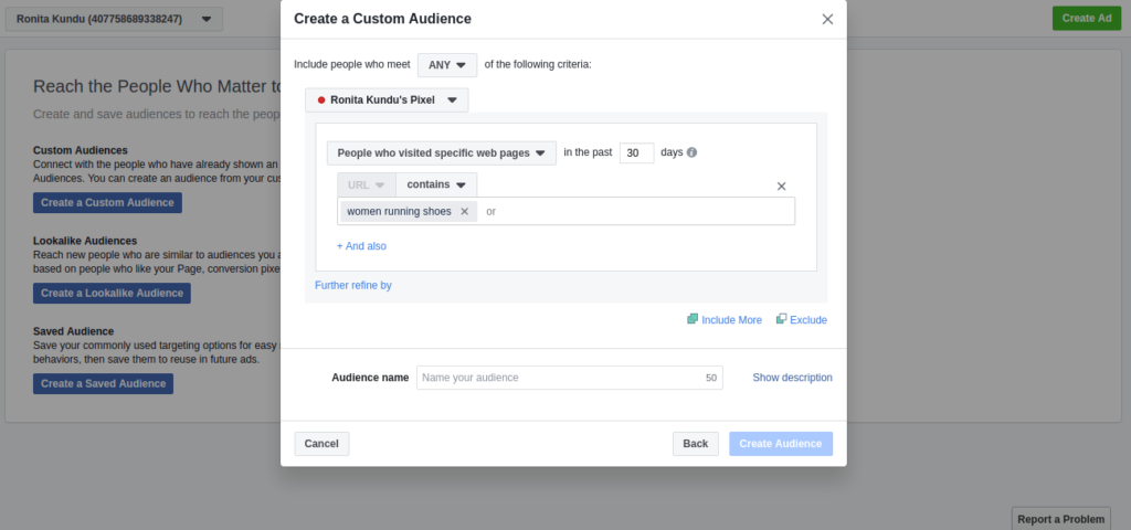 How to create custom audience
