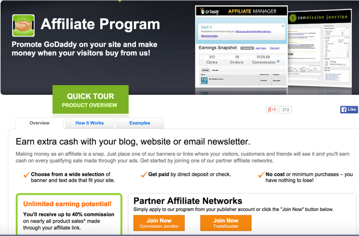 What an affiliate program looks like