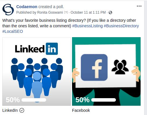 Business Directory Poll