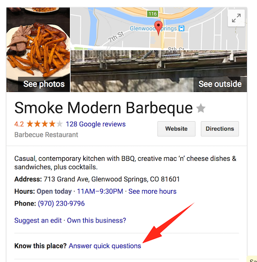 Google Know this place
