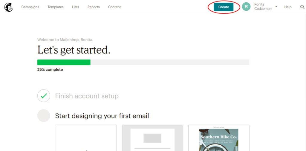Create Mailchimp landing page